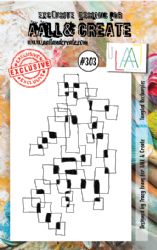 AALL and Create Clear A7 Stamp Set #303 - Tangled Rectangles